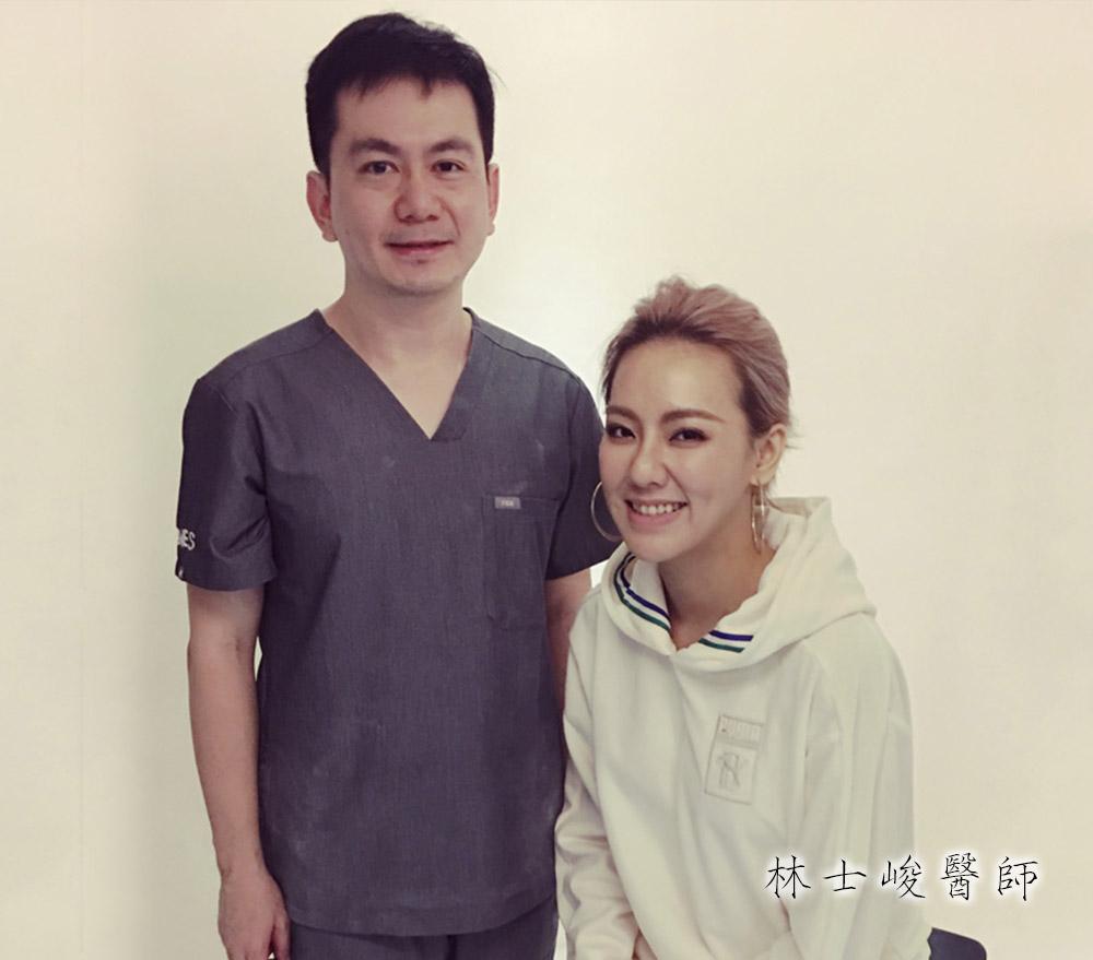 知名藝人-劉雨柔小姐蒞臨診所